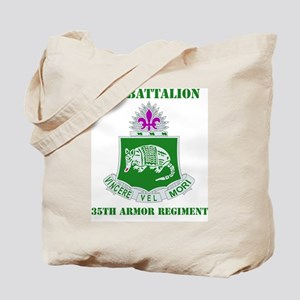 35TH ARMOR RGT WITH TEXT Tote Bag