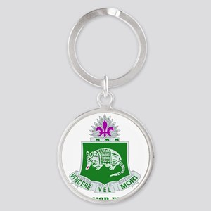 35TH ARMOR RGT WITH TEXT Round Keychain