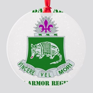 35TH ARMOR RGT WITH TEXT Round Ornament