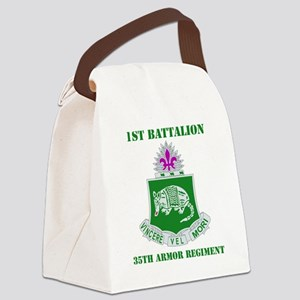 35TH ARMOR RGT WITH TEXT Canvas Lunch Bag