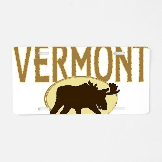 VTMoose Aluminum License Plate