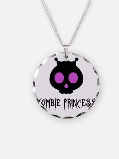 Skull Princess Necklace Circle Charm