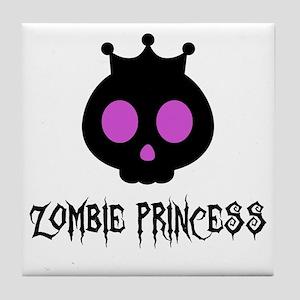 Skull Princess Tile Coaster