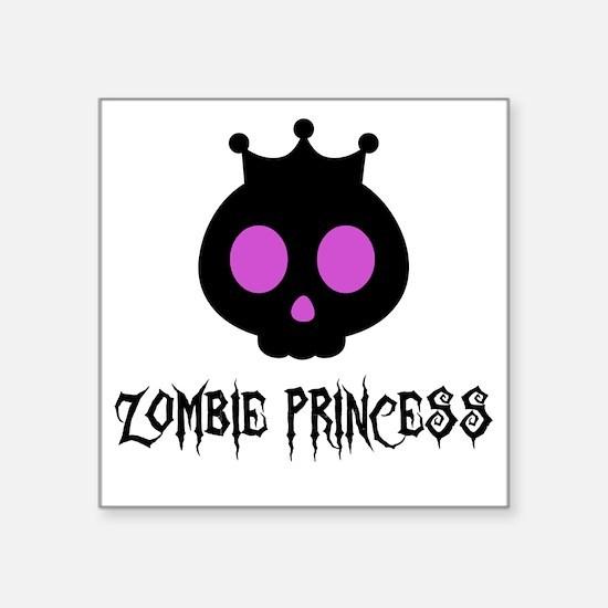 "Skull Princess Square Sticker 3"" x 3"""