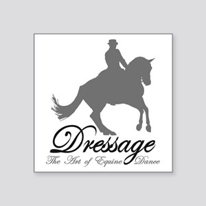 "Dressage Dance Square Sticker 3"" x 3"""