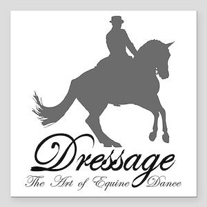 """Dressage Dance Square Car Magnet 3"""" x 3"""""""