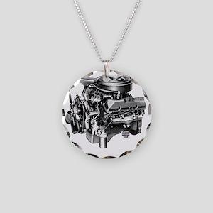 block2 Necklace Circle Charm