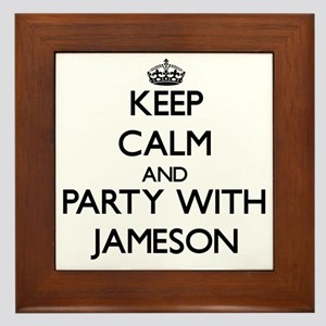Keep Calm and Party with Jameson Framed Tile
