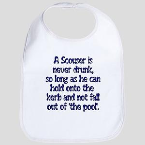 Scouser Never Drunk (Blue) Bib
