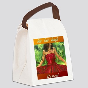 Red Dress_Live Love Laugh DANCE Canvas Lunch Bag