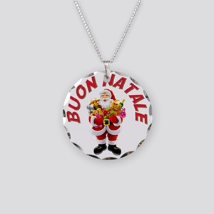 buon natale a Necklace Circle Charm