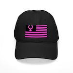 Female Flag Black Cap