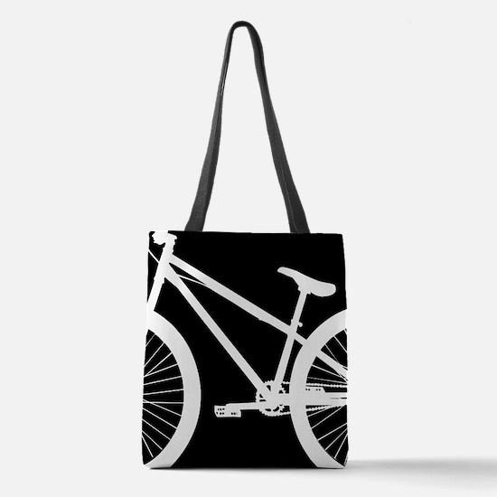 Black and White Bike Polyester Tote Bag