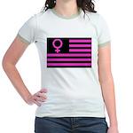 Female Flag Jr. Ringer T-Shirt