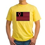 Female Flag Yellow T-Shirt