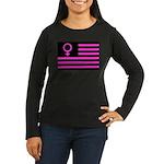 Female Flag Women's Long Sleeve Dark T-Shirt