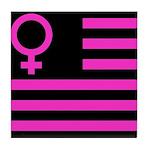 Female Flag Tile Coaster