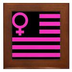 Female Flag Framed Tile