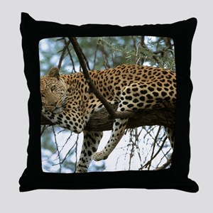 Leo Tree panel print Throw Pillow