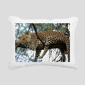Leo Tree panel print Rectangular Canvas Pillow