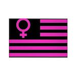 Female Flag Rectangle Magnet (100 pack)