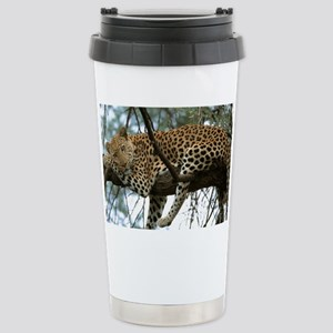 Leo Tree panel print Stainless Steel Travel Mug