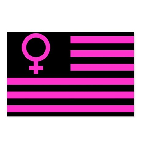 Female Flag Postcards (Package of 8)