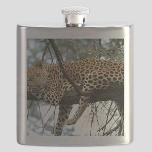 Leo Tree panel print Flask
