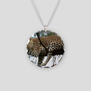 Leo Tree panel print Necklace Circle Charm
