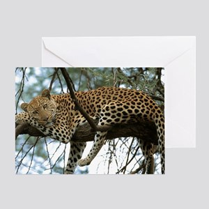 Leo Tree panel print Greeting Card