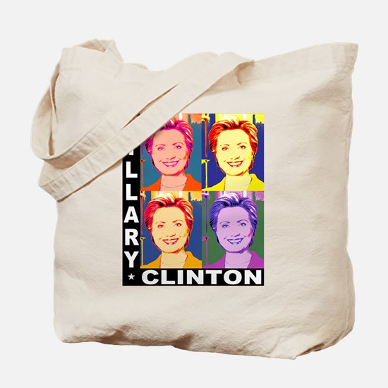 Hilary Pop Art Tote Bag