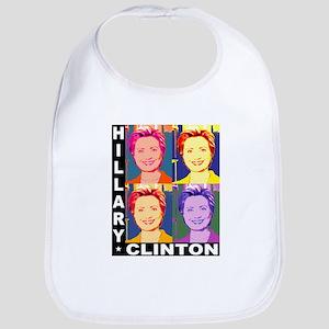 Hilary Pop Art Bib
