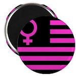 Female Flag Magnet
