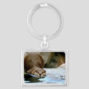 River Otter Landscape Keychain