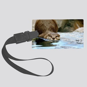 River Otter Large Luggage Tag