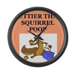nutty squirrel poop Large Wall Clock