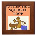 nutty squirrel poop Framed Tile