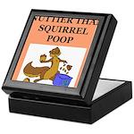 nutty squirrel poop Keepsake Box