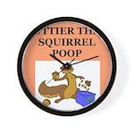 nutty squirrel poop Wall Clock