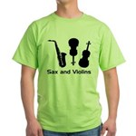 Sax and Violins Bright Green T-Shirt