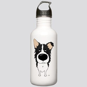 BorderCollieShirtFront Stainless Water Bottle 1.0L