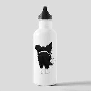 BorderCollieShirtBack Stainless Water Bottle 1.0L
