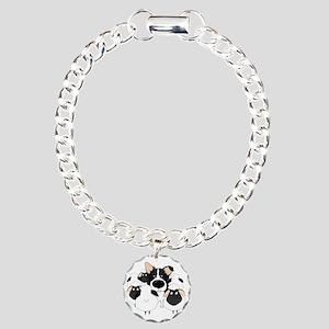 BorderCollieHerdingDark Charm Bracelet, One Charm