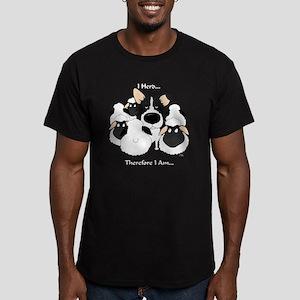 BorderCollieHerdingDar Men's Fitted T-Shirt (dark)