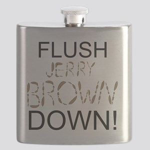 FlushBrownDown01 Flask