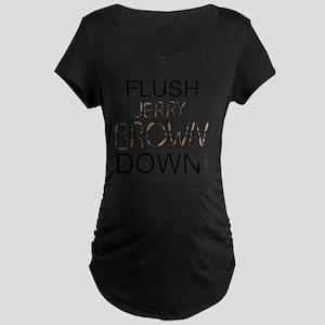 FlushBrownDown01 Maternity Dark T-Shirt