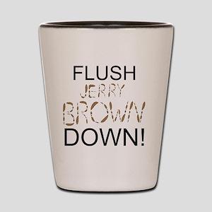 FlushBrownDown01 Shot Glass
