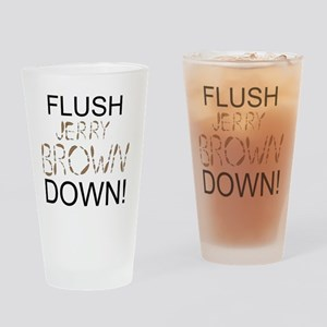FlushBrownDown01 Drinking Glass