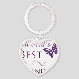 Butterfly_Grandma Heart Keychain