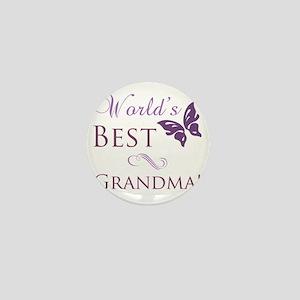 Butterfly_Grandma Mini Button